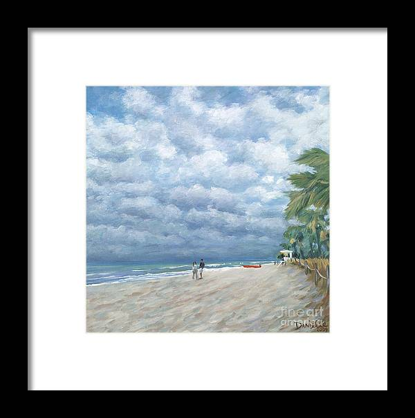 Fort Lauderdale Framed Print featuring the painting Storm On The Horizon by Danielle Perry