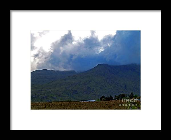 Fine Art Photography Framed Print featuring the photograph Storm On The Horizon In Connemara by Patricia Griffin Brett