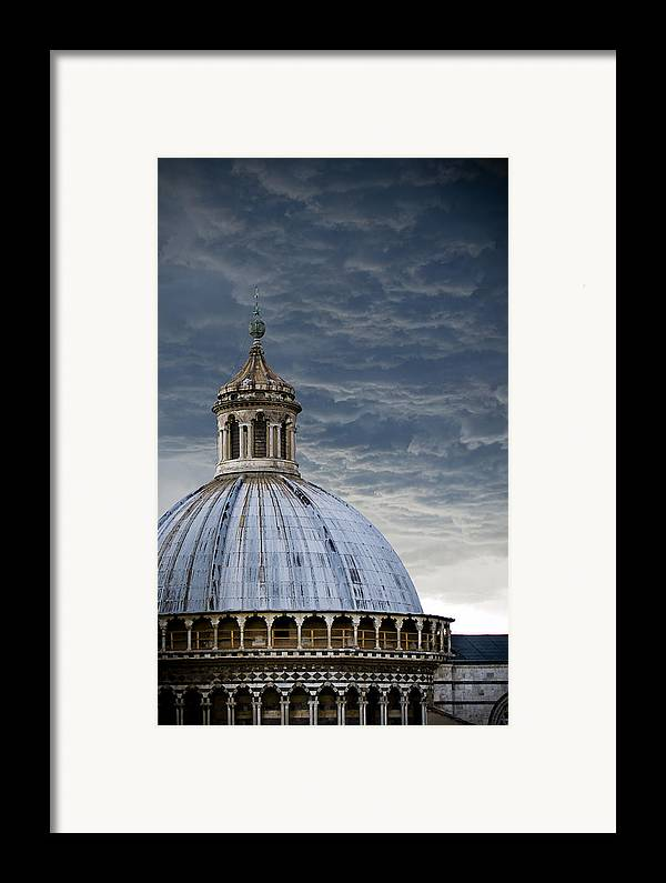 Siena Framed Print featuring the photograph Storm Over Siena by Jim DeLillo