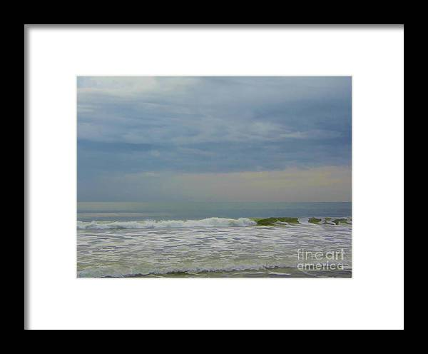 Sunrise Framed Print featuring the photograph Storm Over The Atlantic by D Hackett