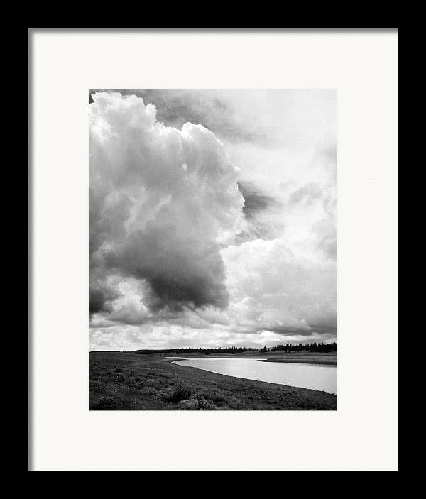 Landscape Framed Print featuring the photograph Storm Over The River by Allan McConnell