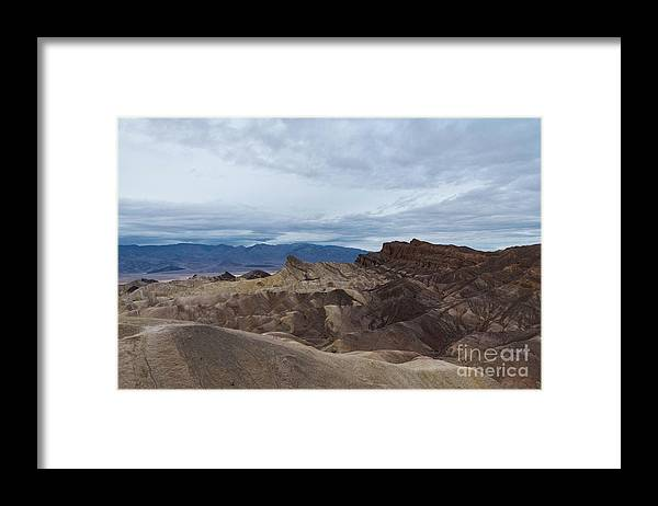 Rain Framed Print featuring the photograph Storm Over Zabriskie Point by Jeffrey Hubbard