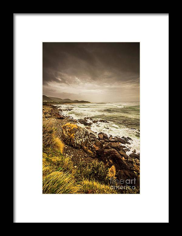 Overcast Framed Print featuring the photograph Storm Season by Jorgo Photography - Wall Art Gallery