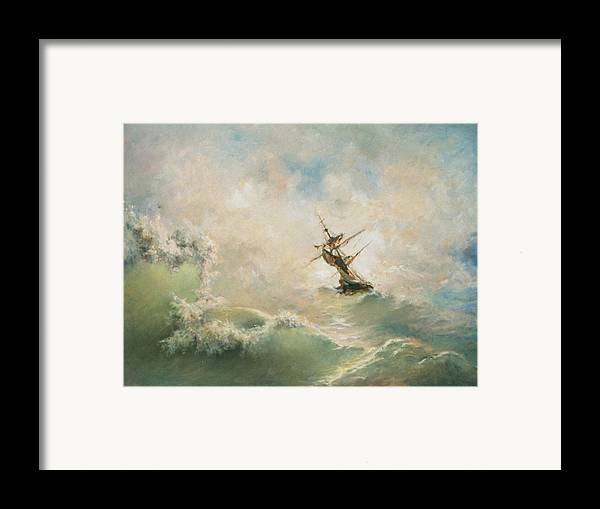 Storm Framed Print featuring the painting Storm by Tigran Ghulyan