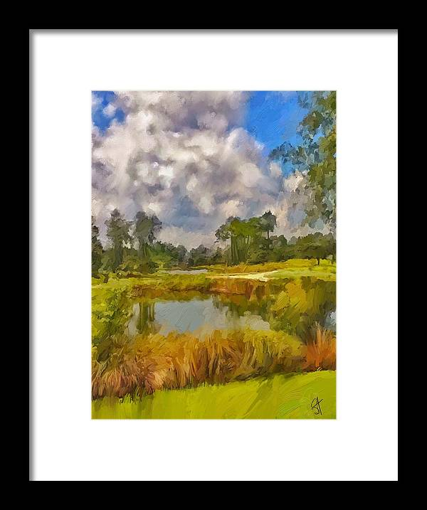 Florida Framed Print featuring the digital art Storm to the West by Scott Waters