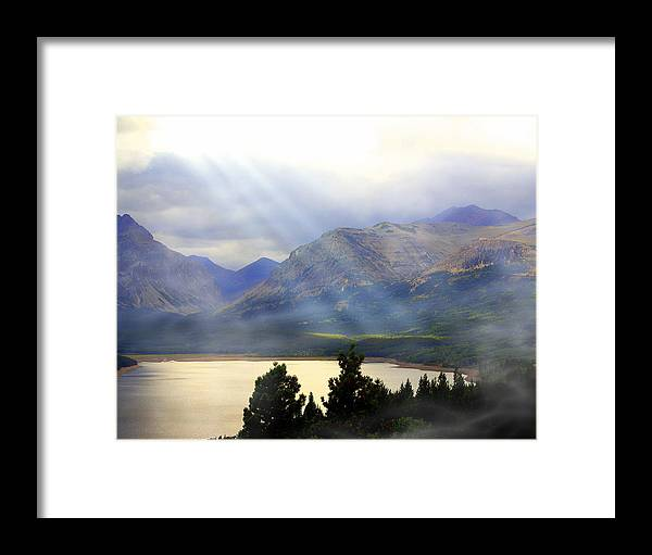 Glacier National Park Framed Print featuring the photograph Storms A Coming-lower Two Medicine Lake by Marty Koch
