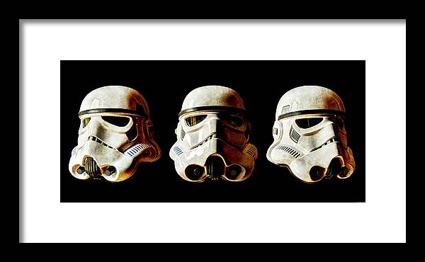 Stormtrooper Framed Print featuring the photograph Stormtrooper 1-3 Weathered by Weston Westmoreland