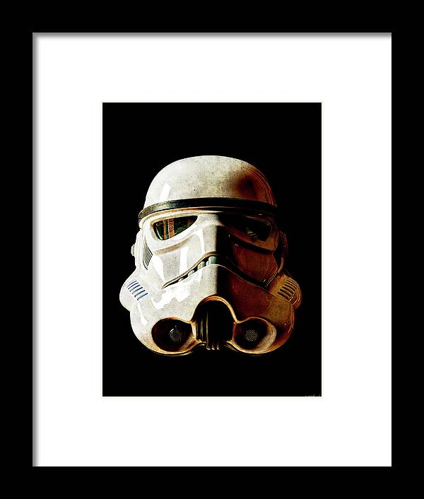 Stormtrooper Framed Print featuring the photograph Stormtrooper 1 Weathered by Weston Westmoreland