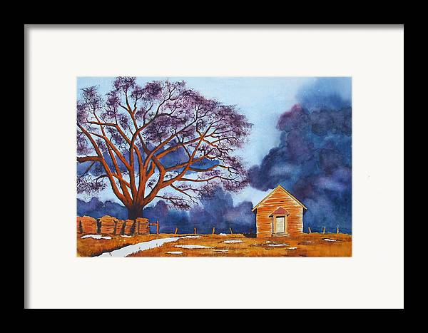 Storm Framed Print featuring the painting Stormy Afternoon by Ally Benbrook