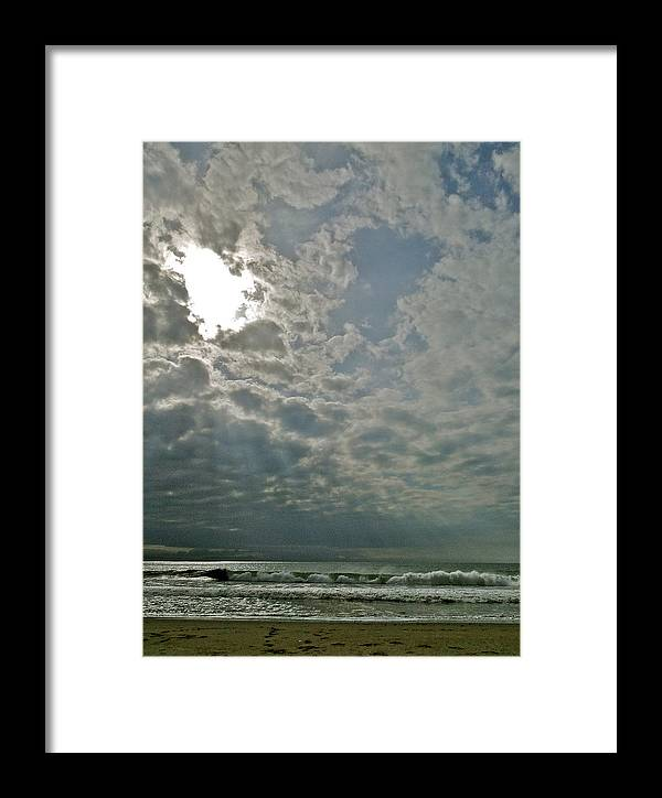 Ocean Framed Print featuring the photograph Stormy Afternoon by Liz Vernand