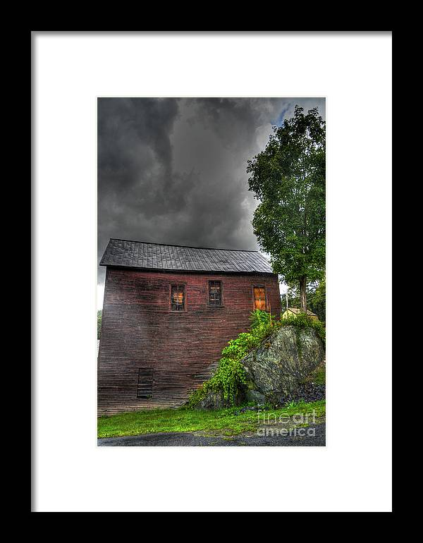 Framed Print featuring the photograph Stormy Barn by David Paul