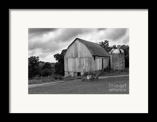 Barn Framed Print featuring the photograph Stormy Barn by Perry Webster
