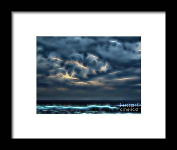 Sunrise Framed Print featuring the photograph Stormy Beach by D Hackett