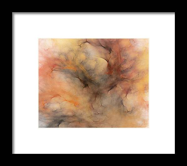 Abstract Framed Print featuring the digital art Stormy by David Lane