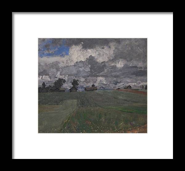 Isaac Levitan Framed Print featuring the painting Stormy Day by Isaac Levitan