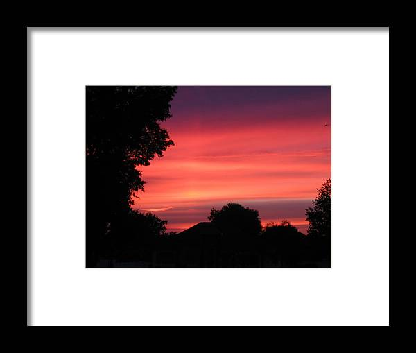 Sunrise-sunset Photographs Framed Print featuring the photograph Stormy Evening Sky by Frederic Kohli