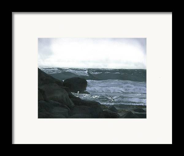 Stormy Flight Framed Print featuring the painting Stormy Flight by Charles Parks