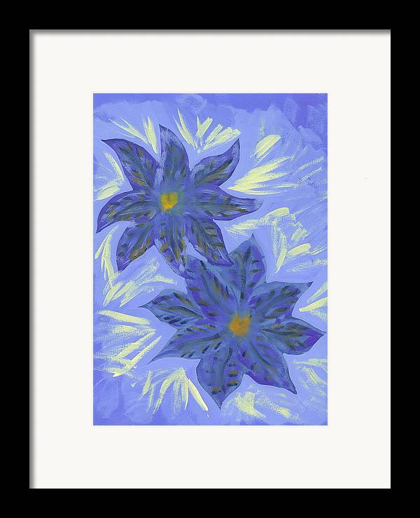 Flower Framed Print featuring the painting Stormy Monday by Laura Lillo