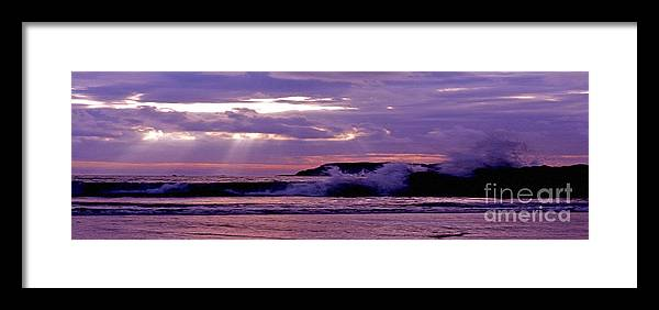 Stormy Framed Print featuring the photograph Stormy Ocean Panoramic by Sven Brogren