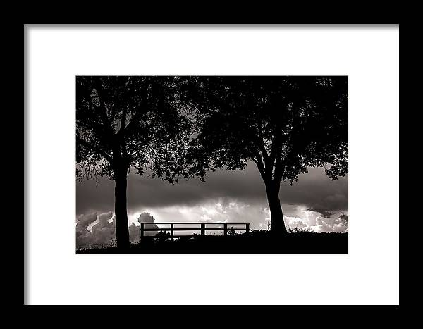 Nature Framed Print featuring the photograph Stormy Skies by Camille Lopez