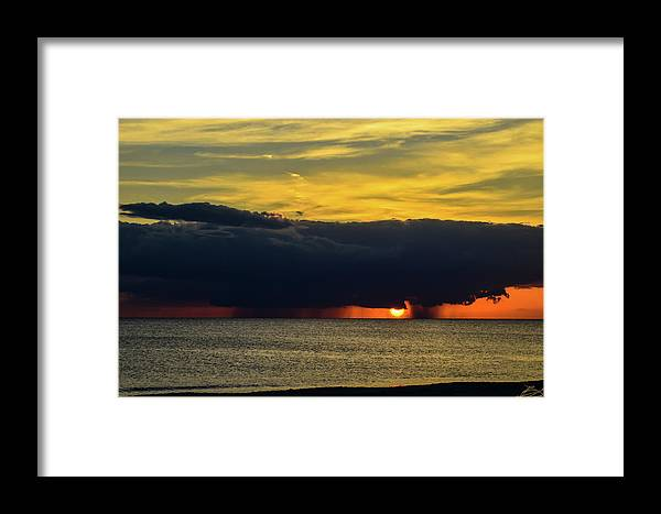 Sunset Framed Print featuring the photograph Stormy Sunset by Bradley Dever