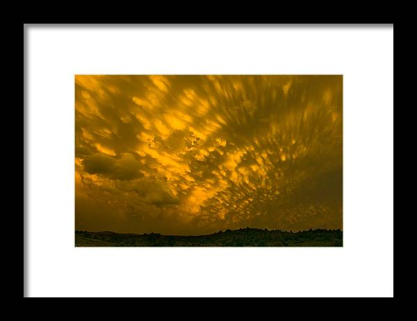 Sunset Framed Print featuring the photograph Stormy Sunset by Ralph Steinhauer