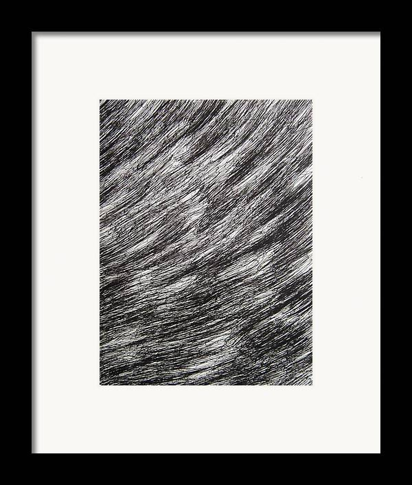 Structure Framed Print featuring the drawing Stormy by Uwe Schein