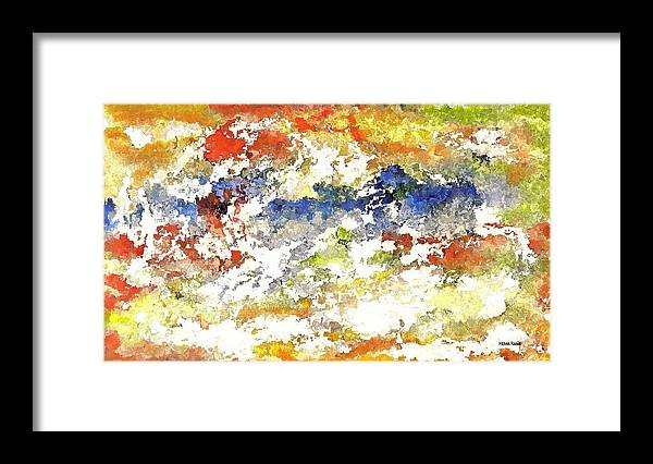 Abstract Art Framed Print featuring the digital art Stormy Weather by Hema Rana