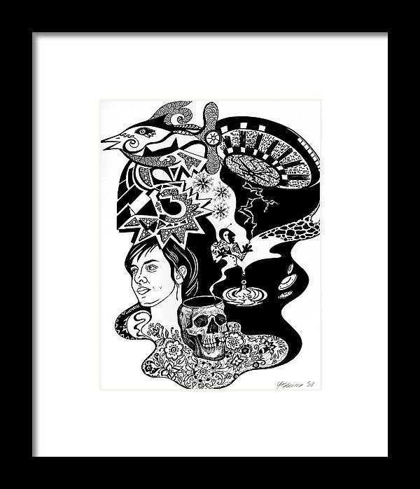 Glafira Rosales Framed Print featuring the drawing Story For Soli by Yelena Tylkina