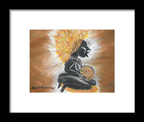 Ethnic Framed Print featuring the painting Story Teller by BJ Abrams