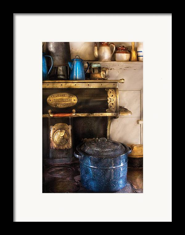 Savad Framed Print featuring the photograph Stove - The Stove by Mike Savad
