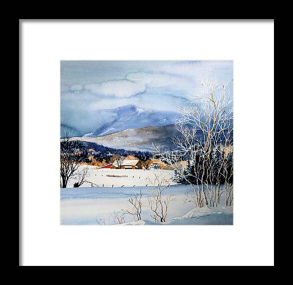 Stowe Valley Farm Painting Framed Print featuring the painting Stowe Valley Farm by Hanne Lore Koehler