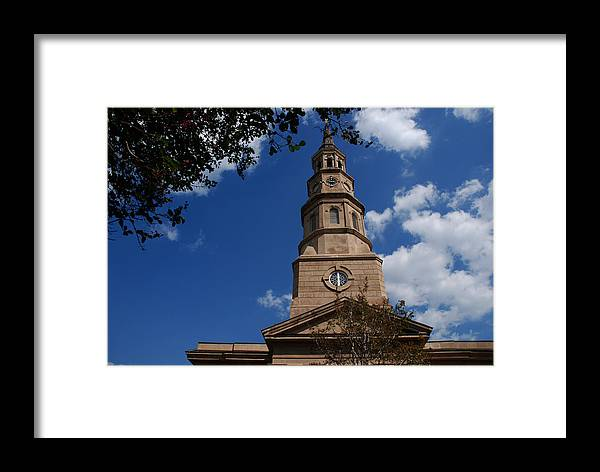 Photography Framed Print featuring the photograph St.philips Church Charleston Sc by Susanne Van Hulst