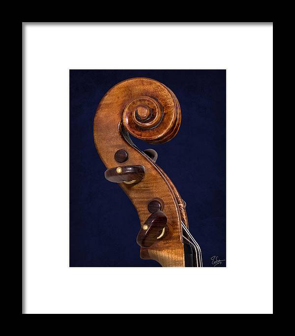 Stradivarius Violin Framed Print featuring the photograph Stradivarius Scroll by Endre Balogh