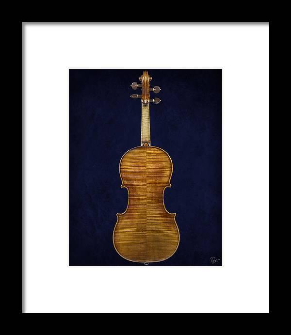 Stradivarius Violin Framed Print featuring the photograph Stradivarius Violin Back by Endre Balogh