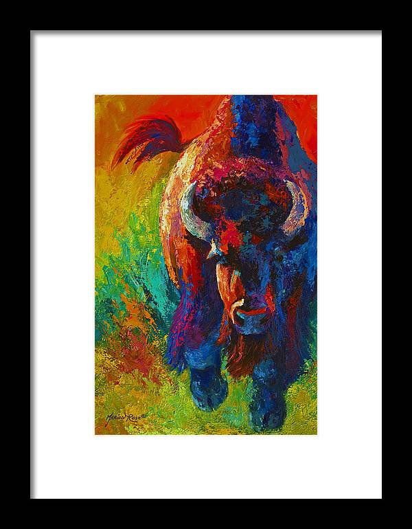 Wildlife Framed Print featuring the painting Straight Forward Introduction by Marion Rose