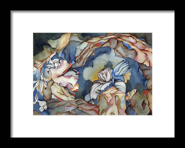 Sealife Framed Print featuring the painting Strange Horizons by Liduine Bekman