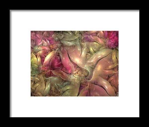 Fractal Framed Print featuring the digital art Strangely Organic II by Amorina Ashton