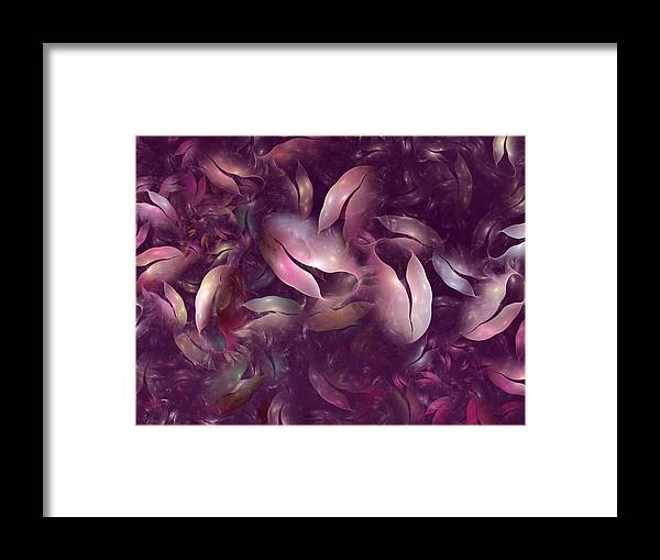 Fractal Framed Print featuring the digital art Strangely Organic IIi by Amorina Ashton