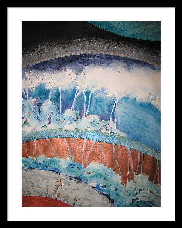 Watercolor Framed Print featuring the painting Strata - 7 by Caron Sloan Zuger