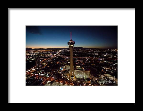 Las Vegas Framed Print featuring the photograph Stratosphere Casino Hotel by Sv