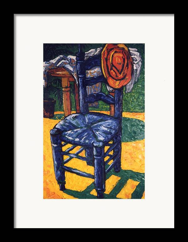 Still Life Framed Print featuring the painting Straw Hat by Paul Herman
