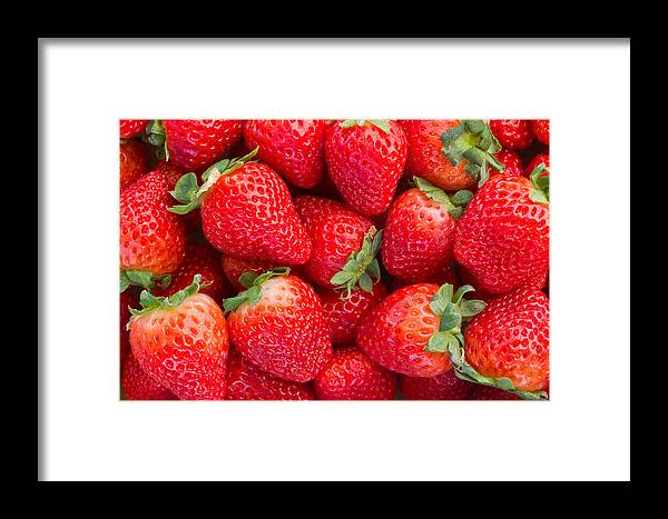 Background Framed Print featuring the photograph Strawberry by Anastasy Yarmolovich