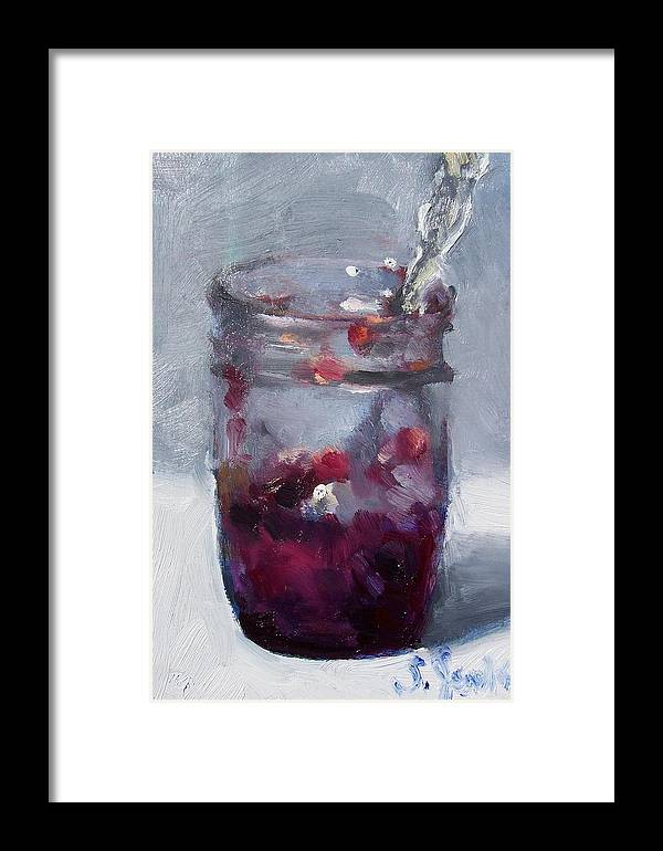 Paintings Framed Print featuring the painting Strawberry Jam by Susan Jenkins