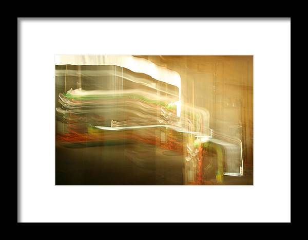 Abstract Framed Print featuring the photograph Streak Door Lights by Joshua Sunday