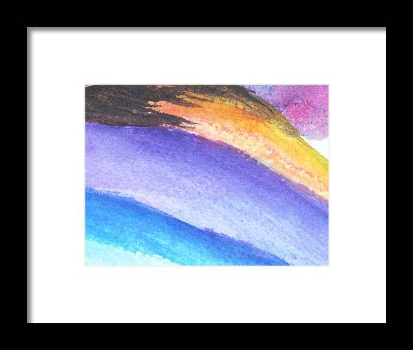 Abstract Framed Print featuring the painting Streaks Of Light by Trilby Cole