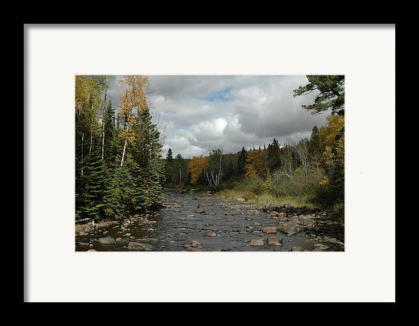 Nature Framed Print featuring the photograph Stream At Tettegouche State Park by Kathy Schumann