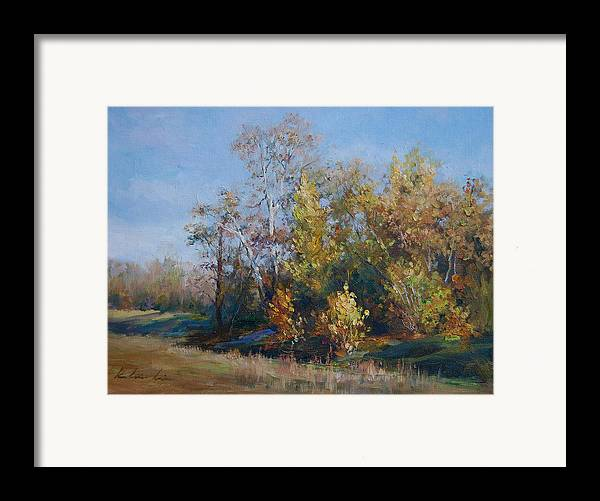 Framed Print featuring the painting Stream By Cisco Campus by Kelvin Lei