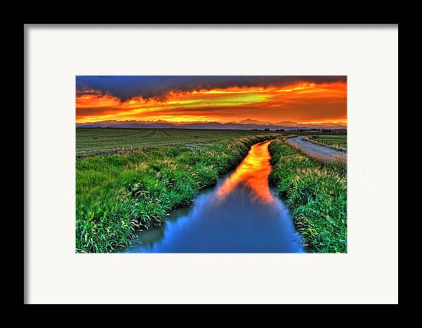 Colorado Framed Print featuring the photograph Stream Of Light by Scott Mahon