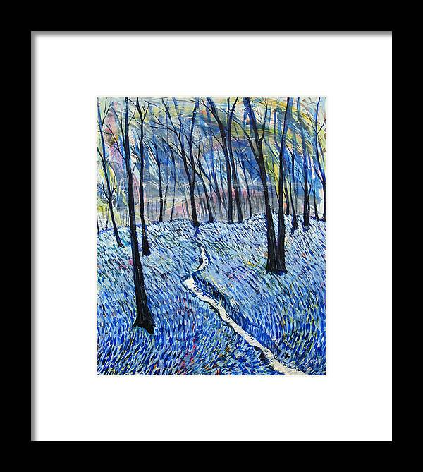 Landscape Framed Print featuring the painting Stream by Rollin Kocsis